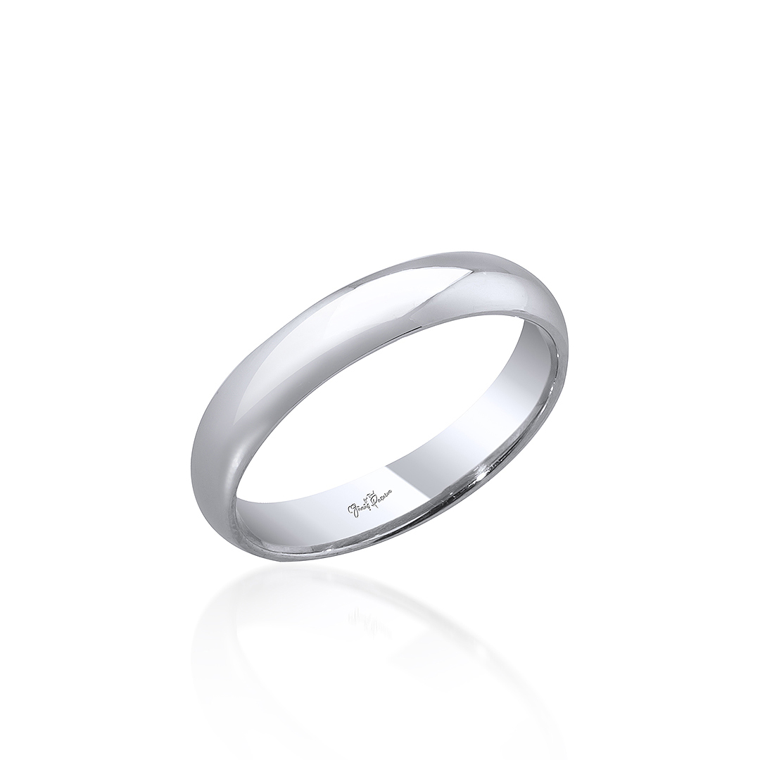 Gümüş Pazarım - 4 mm Klasik Kadın Gümüş Alyans