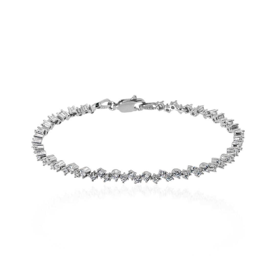 Gümüş Pazarım - 4 Tırnaklı Su Yolu Gümüş Bileklik