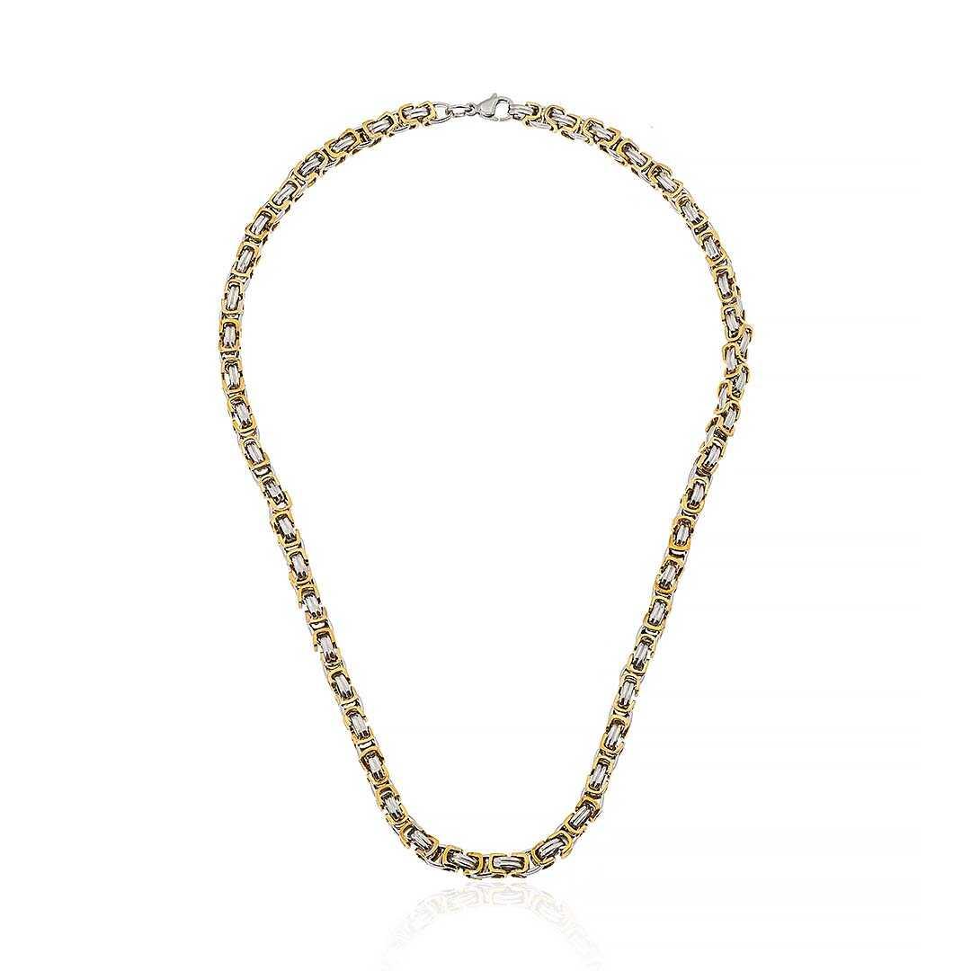Gümüş Pazarım - 5 mm Çelik Kral Zincir Gold