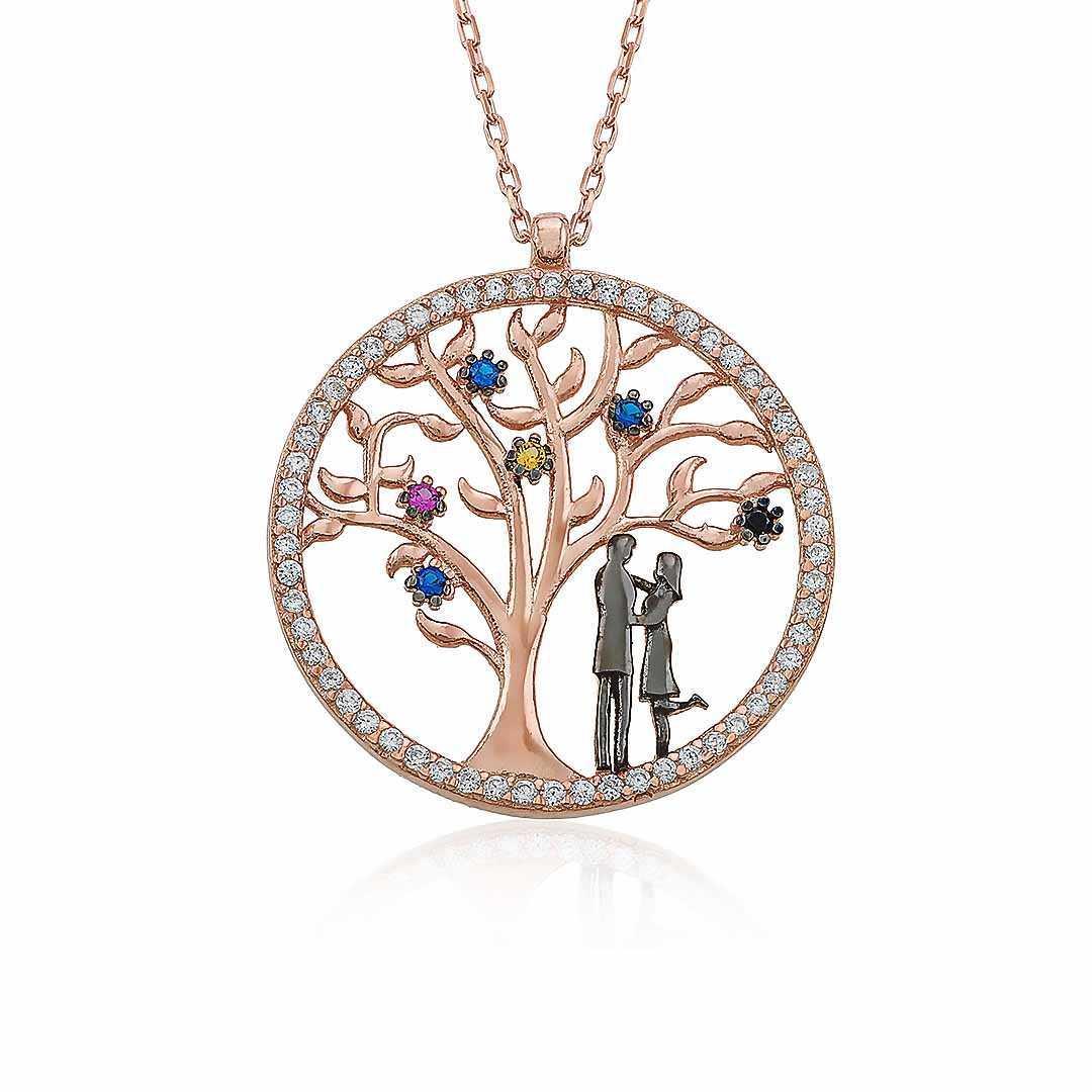 Gümüş Pazarım - Hayat Ağacı Motifli Gümüş Kolye