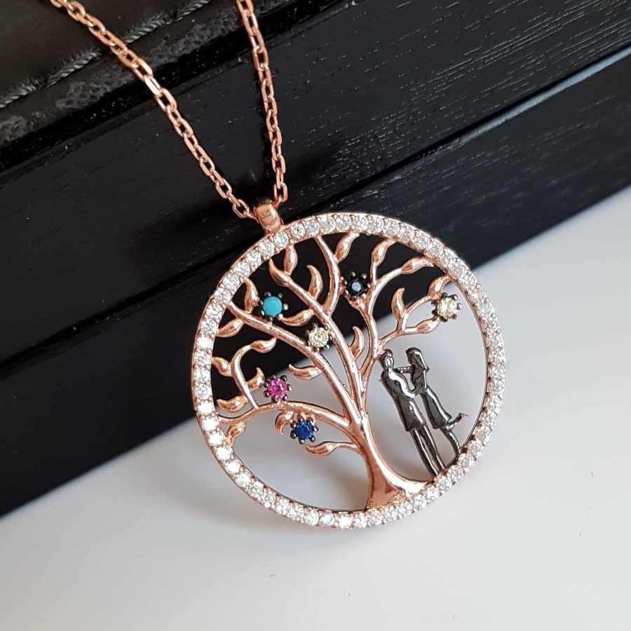 Gümüş Pazarım - Hayat Ağacı Motifli Gümüş Kolye (1)