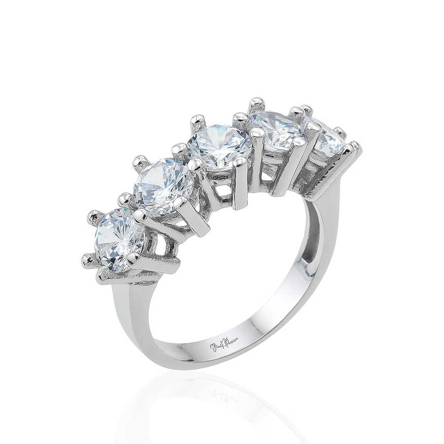 Gümüş Pazarım - Prenses Beştaş Gümüş Yüzük