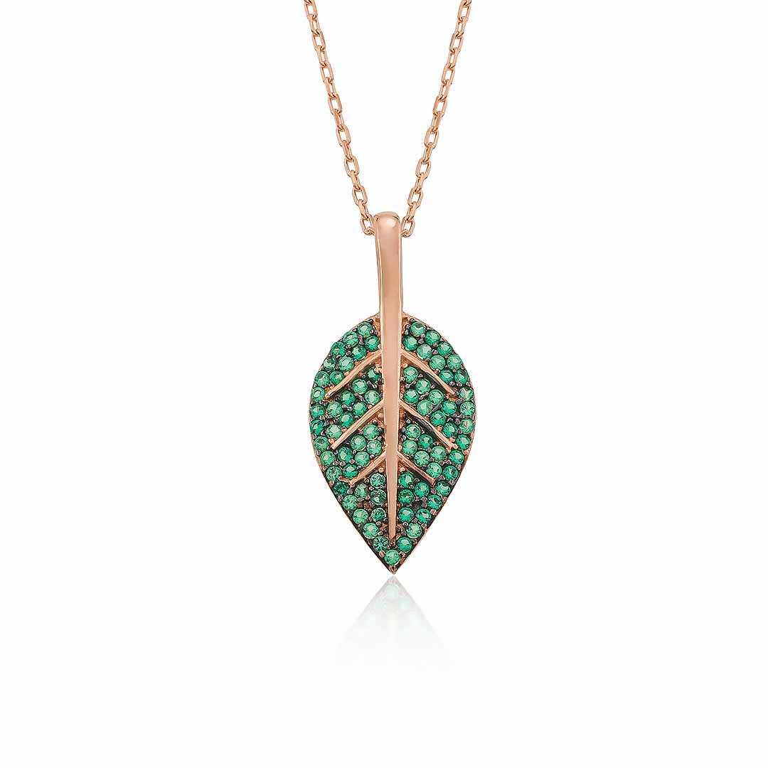 Gümüş Pazarım - Zeytin Yaprağı Motifli Gümüş Kolye